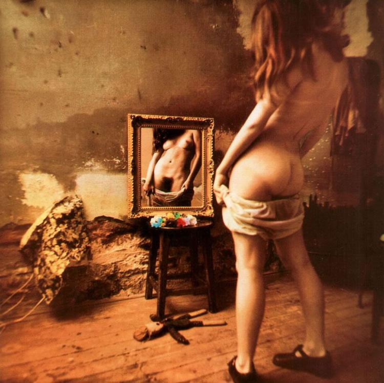 jan-saudek mujer ante el espejo
