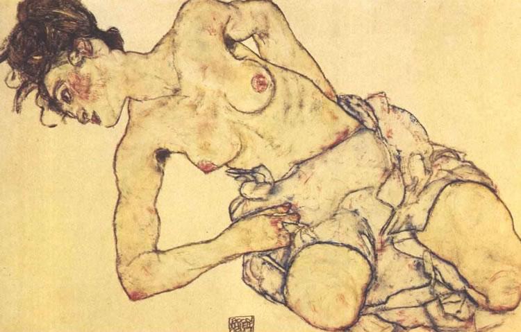 egon schiele mujer desnuda