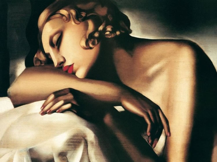 La durmiente, de Tamara de Lempicka